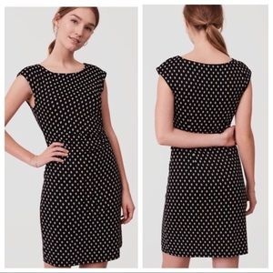 Black Dress with Diamond Pattern and Side Ruching